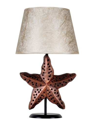 Qdec Modern Dizayn Deniz Yıldızı Abajur   Altın